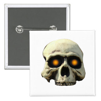 Glow Skull Pinback Button