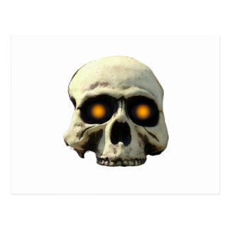 Glow Skull Postcard