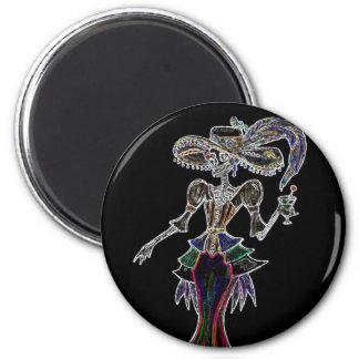 Glow Steampunk Catrina Magnet