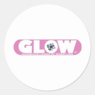 GLOW Sticker Pink Logo