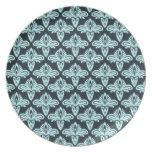 Glow style abstract pattern party plates