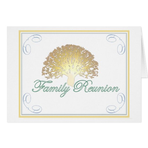 Glow Tree Family Reunion Invitation Stationery Note Card