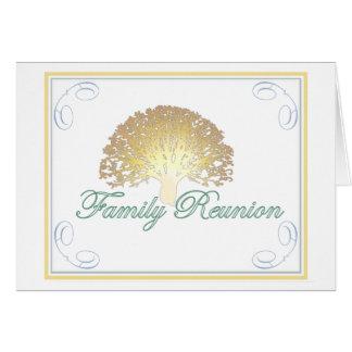 Glow Tree Family Reunion Invitation Stationery Note Card