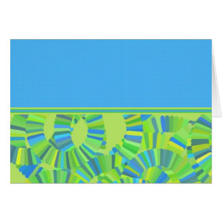 Glow Worm Gliftex Abstract Greeting Card