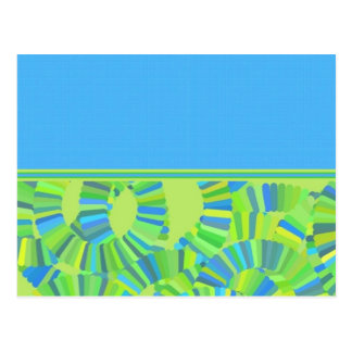 Glow Worm Gliftex Abstract Postcard
