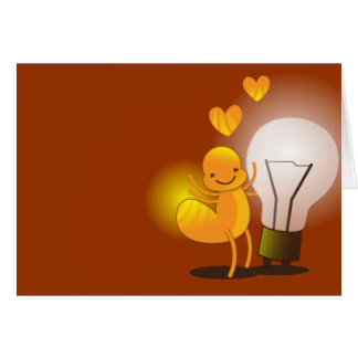 Glow Worm! with a light globe super cute! Card