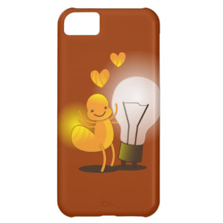 Glow Worm! with a light globe super cute! Cover For iPhone 5C