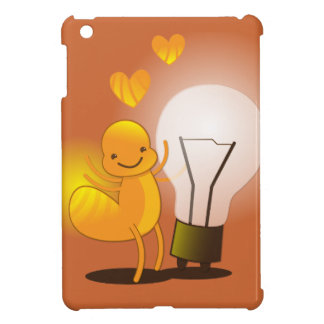 Glow Worm! with a light globe super cute! iPad Mini Covers