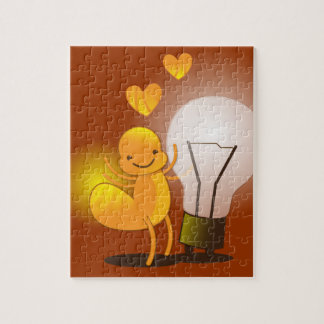 Glow Worm! with a light globe super cute! Jigsaw Puzzle