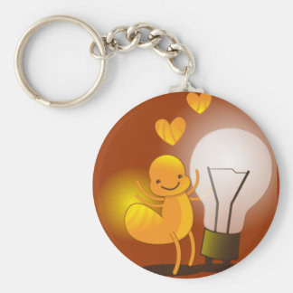 Glow Worm! with a light globe super cute! Keychain