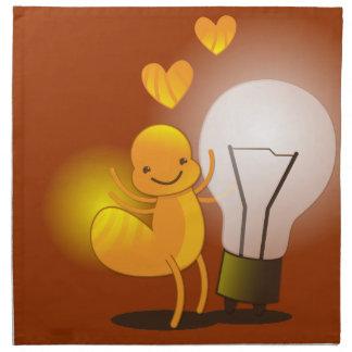 Glow Worm! with a light globe super cute! Napkin