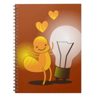Glow Worm! with a light globe super cute! Notebook