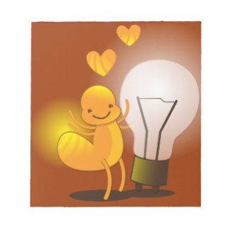 Glow Worm! with a light globe super cute! Notepad