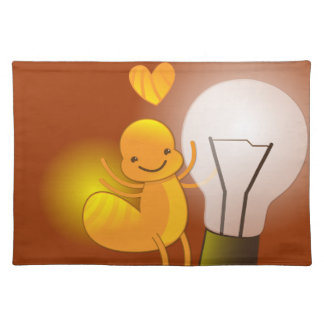 Glow Worm! with a light globe super cute! Placemat