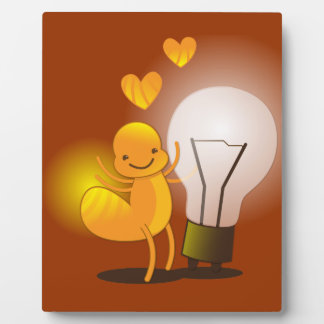 Glow Worm! with a light globe super cute! Plaque
