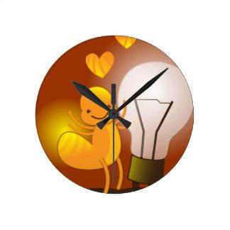 Glow Worm! with a light globe super cute! Round Clock