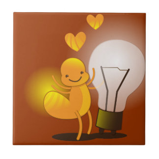 Glow Worm! with a light globe super cute! Tile