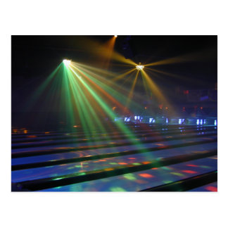 Glow Zone Bowling Postcard