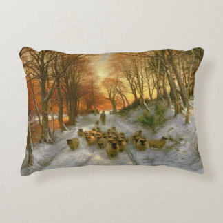 Glowed with Tints of Evening Hours Accent Pillow