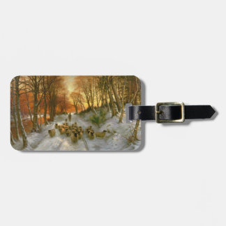 Glowed with Tints of Evening Hours Luggage Tag