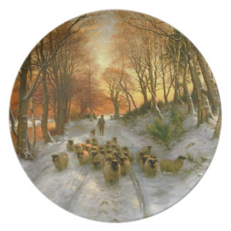 Glowed with Tints of Evening Hours Melamine Plate