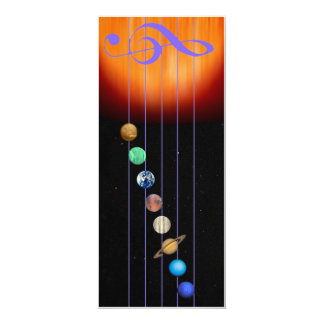 Glowees invitiation 4 x 9.5 - Music of the Spheres Card