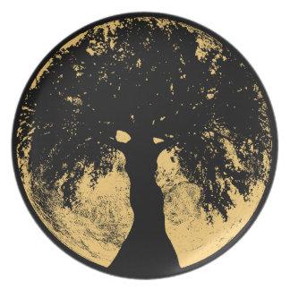 Glowees Moon Oak Goddess Dinner Plate