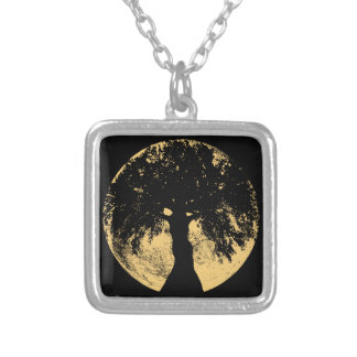 Glowees Moon Oak Goddess Silver Plated Necklace
