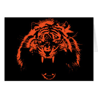 Glowees Tiger Greeting Cards