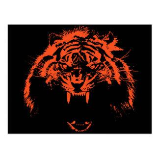 Glowees Tiger Postcard