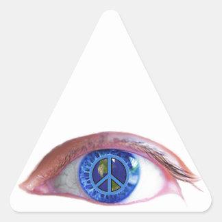 Glowees visualiza paz de mundo pegatinas trianguladas