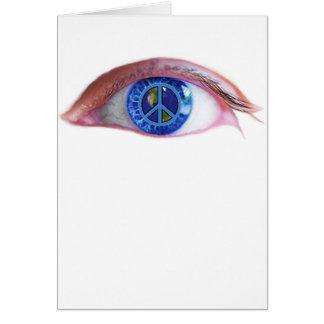 Glowees Visualize World Peace Greeting Card
