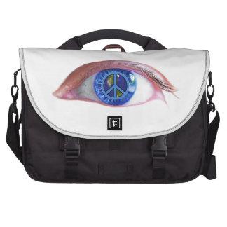 Glowees Visualize World Peace Laptop Commuter Bag