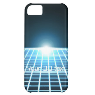 Glowing 3D-Grid with customizable text iPhone 5C Case