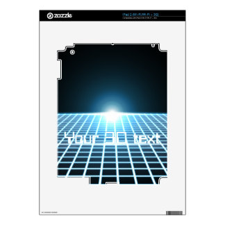 Glowing 3D-Grid with customizable text Decal For The iPad 2