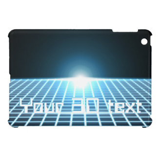 Glowing 3D-Grid with customizable text Case For The iPad Mini