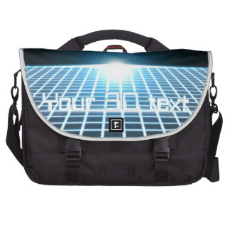Glowing 3D-Grid with customizable text Laptop Bag