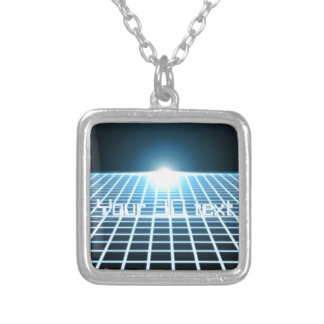 Glowing 3D-Grid with customizable text Custom Jewelry