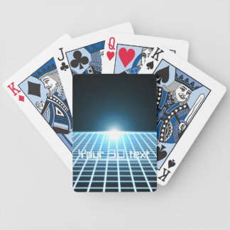 Glowing 3D-Grid with customizable text Bicycle Poker Deck