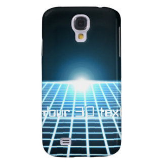 Glowing 3D-Grid with customizable text Samsung S4 Case