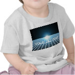 Glowing 3D-Grid with customizable text Tee Shirt