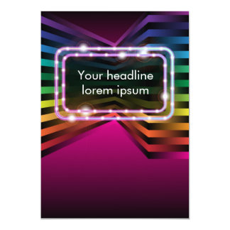 Glowing Abstract Background Card