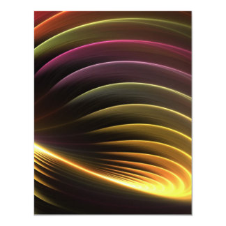 Glowing Abstract Fractal Vortex Card