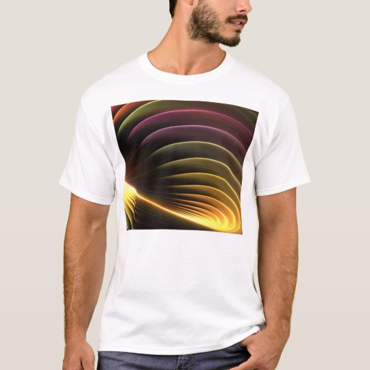 Glowing Abstract Fractal Vortex T-Shirt