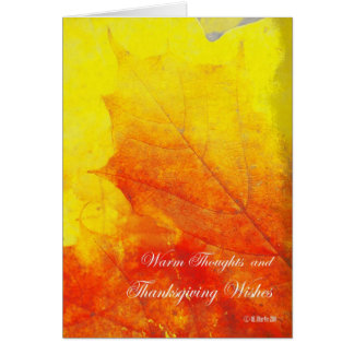 Glowing Abstract Leaf Thanksgiving Card Greeting Cards