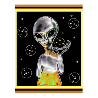 Glowing Alien - Post Card