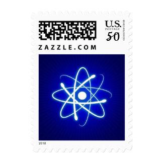 Glowing Atom - Blue Postage