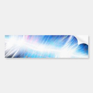 Glowing Audio Waveform Bumper Sticker