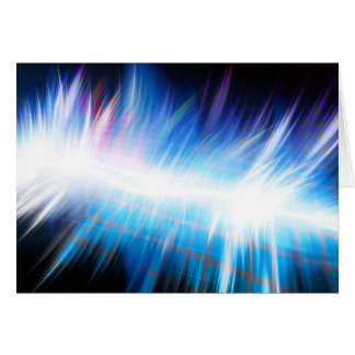 Glowing Audio Waveform Card