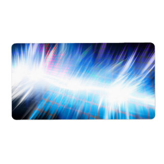 Glowing Audio Waveform Label